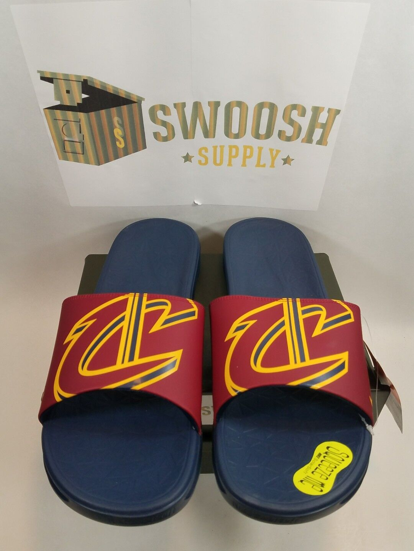 Nike Solarsoft Cleveland Cavaliers Benassi Sandali Sz 12 Slide Lebron 917551-601