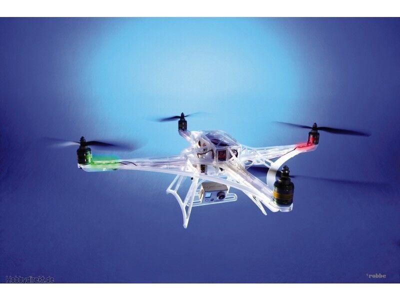 DRONE QUADRICOTTERO PLEXIGLAS SCATOLA DI MONTAGGIO ROBBE RO-Copter A-Frame S2640