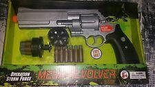 Mega Revolver Pistol Set! Realistic Sounds 12 Rounds Speed Loader
