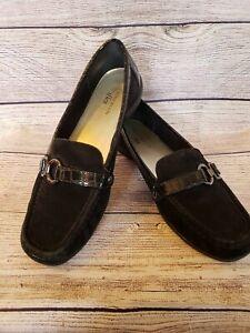 df21c69fe32 Women s Anne Klein iflex leather suede patent black loafers buckle ...
