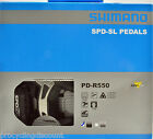 NEW 2017 Shimano PD-R550 SPD SL Road Pedals & SM-SH11 Floating Cleats: BLACK