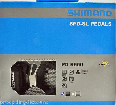 NEW PD-R550 SPD SL pedal Clipless Road bike Pedals 6° Float Cleats Black CPL