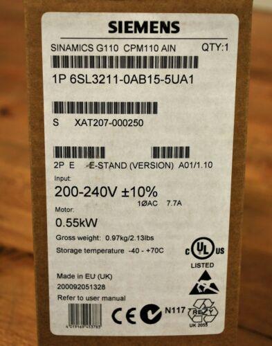 Siemens 6SL3211-0AB15-5UA1 Sinamics G110 CPM110 AIN - 6SL32110AB155UA1 - NEW