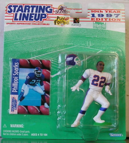 1997 Philippi Sparks Rookie Giants Starting Lineup mint in pkg w// football card