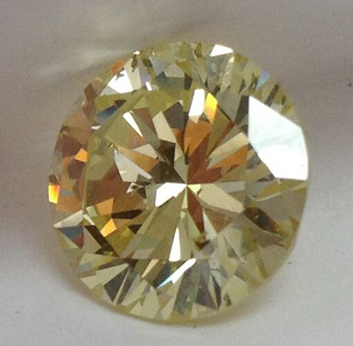 4.47 ct GIA fancy yellow color round cut natural loose diamond