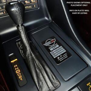 C4 Corvette Spec Data Plate Embossed in Scratch-Resistant Aluminum 84 thru 96