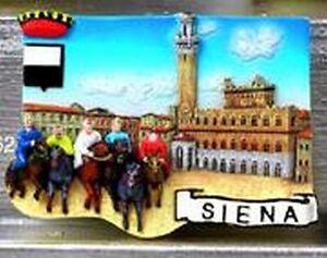 Magnet relief palio siena, souvenir Italie Italy, 7 cm, NEUF  </span>