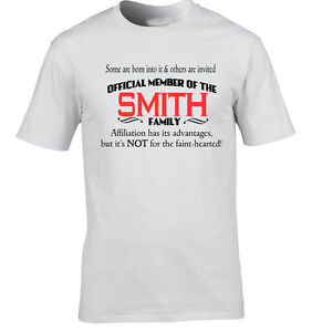 66339ca5f Smith Family Name T-Shirt Surname T-Shirt Any Name Can Be Added ...
