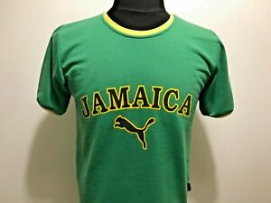 super cheap newest collection nice shoes Details about PUMA JAMAICA GREEN CASUAL SHIRT MEN'S SIZE S T-SHIRT RASTA  STYLE VINTAGE JERSEY