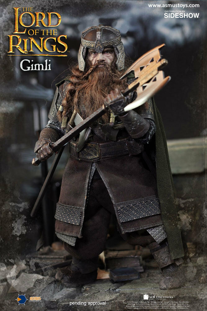 LORD OF THE RINGS  GIMLI 1 6 Action Figure 12″ ASMUS COLLECTIBLES