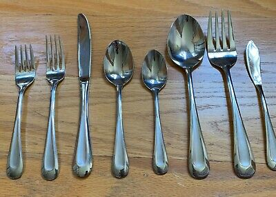 Good to Very Good Condition 16 Piece lot SATIN SAND DUNE Vintage Oneida Stainless Steel Flatware