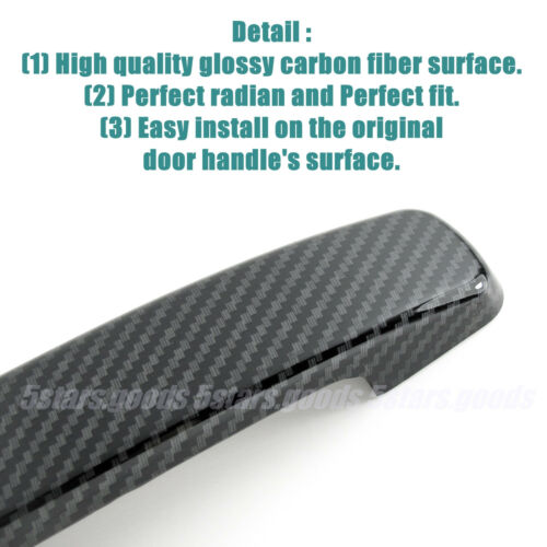 Glossy Carbon Fiber Side Door Handle Covers Trims For 2007-2012 Nissan Altima