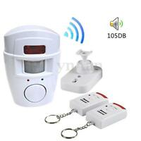 PIR Infrared Red Motion Movement Sensor Alarm + 2 Remotes Garage Home Security