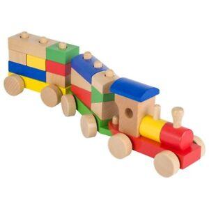 Holzspielzeug UnermüDlich Goki Zug Eisenbahn Rom 16tl Mit Bausteinen Holzeisenbahn Holzspielzeug Wp304 Neu Die Neueste Mode
