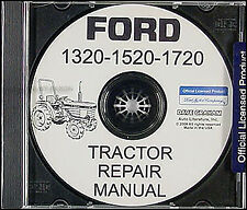 1987 2000 Ford Tractor 1320 1520 1720 Shop Manual On Cd Repair Service