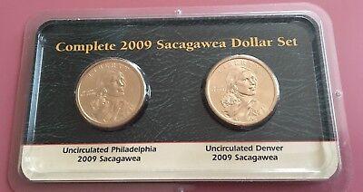 **FREE SHIPPING** 2 Coins 2009 P /& D Sacagawea Dollar Set