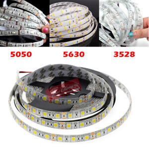 5M-SMD-300-600-LED-3014-3528-5050-5630-Waterproof-Flexible-Strip-Light-12V-White