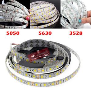 5M 5630 5050 3528 3014 SMD 300 600Leds Flexible Led Strip Light Waterproof DC12V