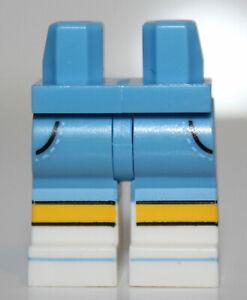 Lego Medium Blue Hips Legs White Boots Black Pocket Lines Yellow Knees Medium Bl