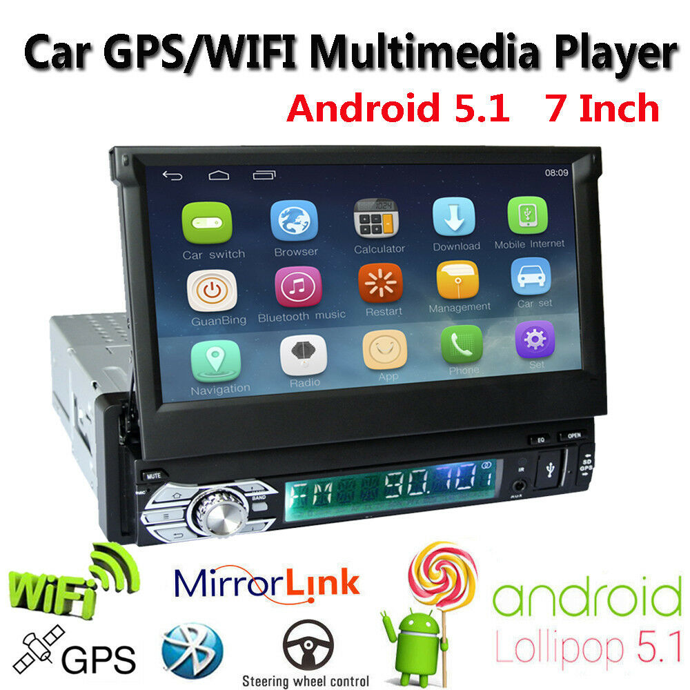 7 single din hd touch android car stereo player am fm. Black Bedroom Furniture Sets. Home Design Ideas