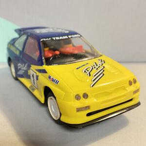 Raro-Vintage-Scalextric-C370-Michelin-Team-Ford-Escort-Rs-Cosworth-Piloto-1-32