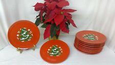 """Waechtersbach German Red Christmas Tree Dessert/Salad Plate 7.2""""  Great Cond"""