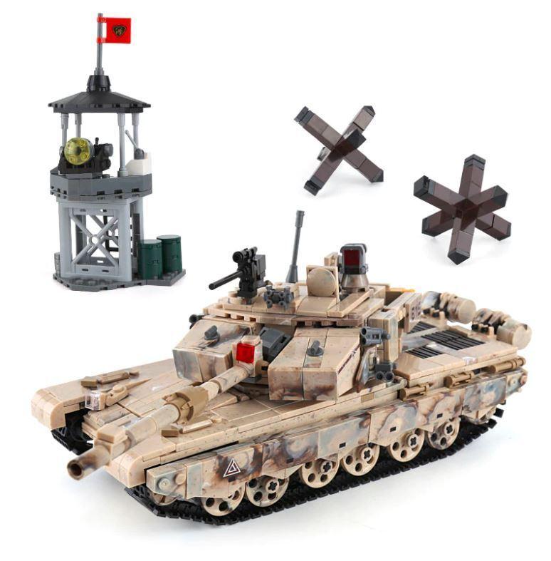 New 961Pcs Military Series The 99 Tank Set Building Blocks Model Kids Gift Toy