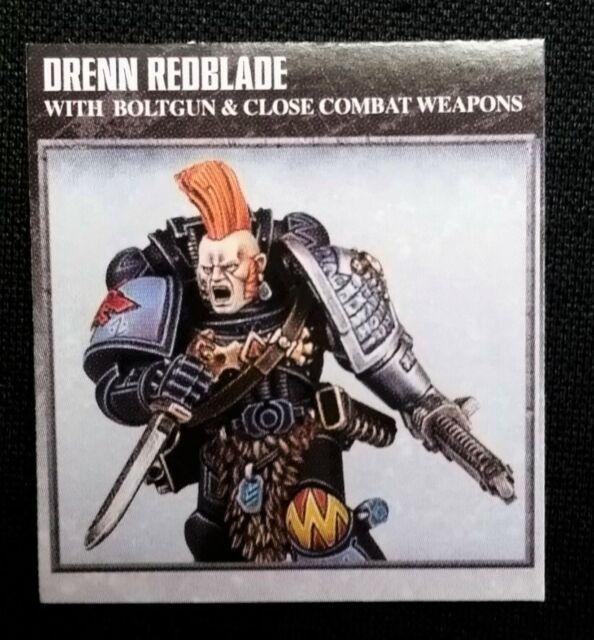 Space Wolves Blood Claw Drenn Redblade Warhammer 40k Space Marine Deathwatch