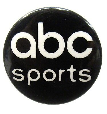 Vintage ABC Sports pin pinback button perfect condition!