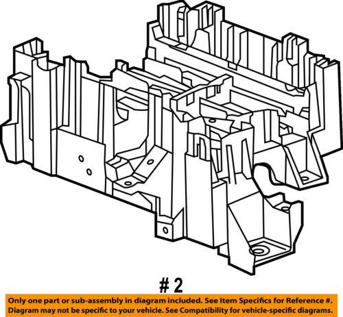 GM OEM Fuse Relay-Mount Bracket 23200659
