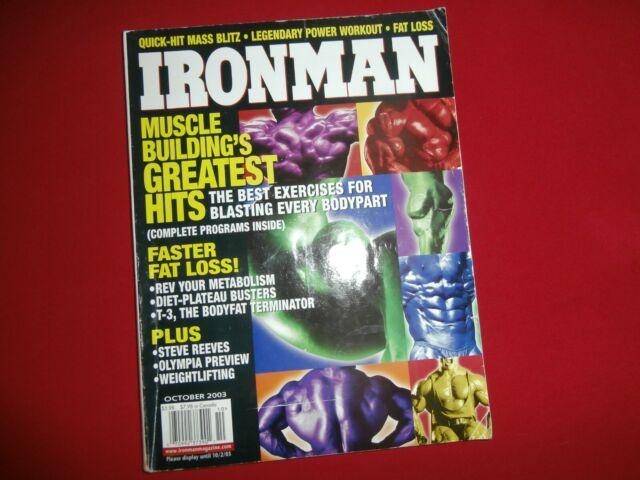 IRONMAN (Oct 2003) Bodybuilding Magazine MUSCLE BUILDING'S