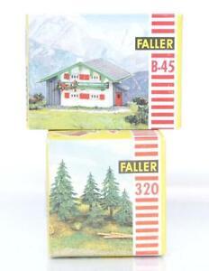 VINTAGE-FALLER-B-45-320-OO-HO-KITS-MOUNTAIN-CHALET-amp-PINE-TREES