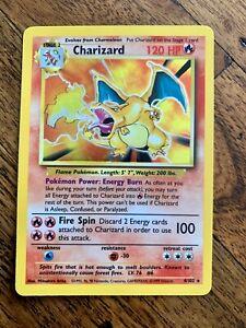 CHARIZARD 4/102 BASE SET UNLIMITED HOLO FOIL POKEMON CARD RARE 1999