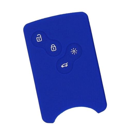 4Button Silikon Hülle Schlüssel Cover Smart Car Remote für Renault Blue