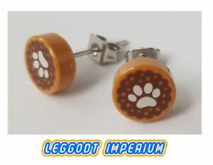 0cf7b935820d3 Details about LEGO Custom Stud Earrings - Pawprint pattern - FREE POST