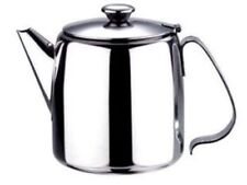 New Coffee Tea Pot Stainless Steel Kitchen Flip Lid Handle 18oz
