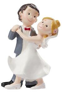 und Tischdeko zur Hochzeit 8,5cm x 6,5cm Torten Brautpaar aus Polyresin