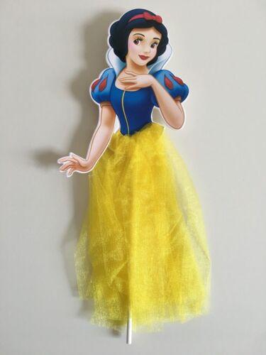 Snow white Princess Cake Ice cream Topper Kids Girls Birthday Party decoration