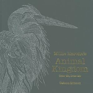 A Millie Marotta Adult Coloring Book Marottas Animal Kingdom Deluxe Edition By 2015 Hardcover
