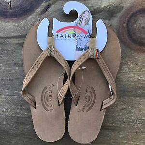 Women-Rainbow-Sandals-Thin-Strap-Sierra-Brown-Premier-Leather-Single-Layer