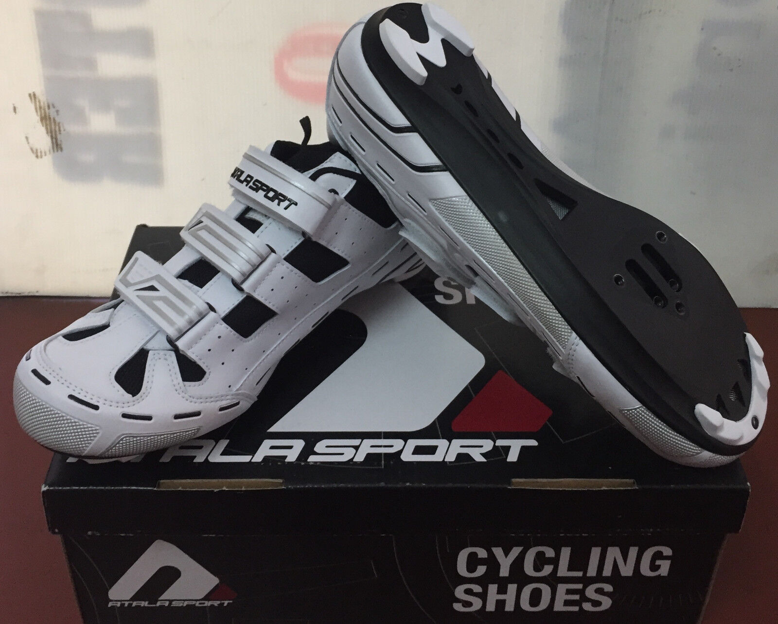 shoes BICI CORSA MTB SPINNING ATALA SPORT AS50 XLC BIANCO CICLISMO TG 44
