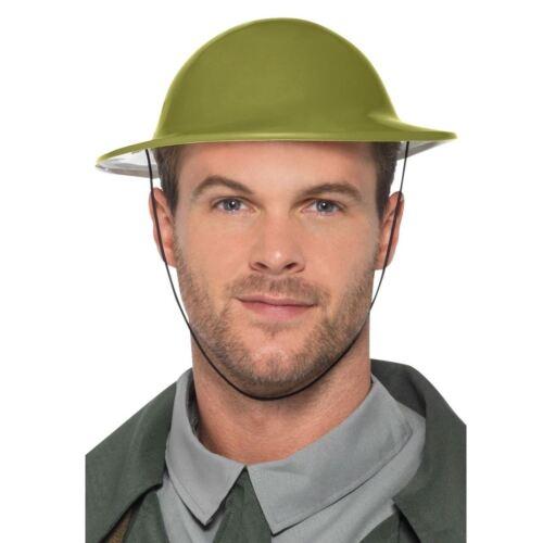 Les adultes Guerre Tommy chapeau plastique vert armée militaire soldat casque britannique