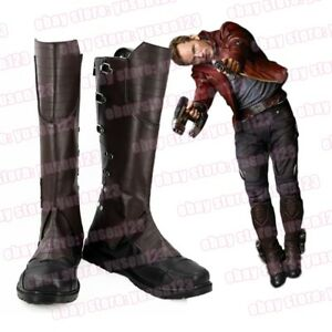 Guardians of The Galaxy Star Lord Peter Quill Cosplay Boots Shoes Halloween