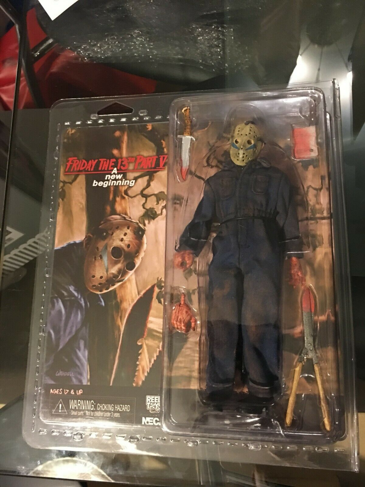 NECA FRIDAY THE 13TH PART V A New Beginning JASON VOORHEES CLOTHED 8  Figure