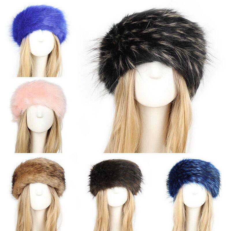 Mujeres Grueso Tapa IMITACIÓN PIEL ESPONJOSA ruso Diadema Sombrero Sombrero De Esquí Invierno Oreja Calentador