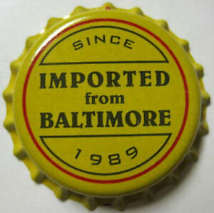 IMPORTED-from-BALTIMORE-Beer-CROWN-Bottle-CAP-DeGroen-Brwy-Baltimore-MARYLAND