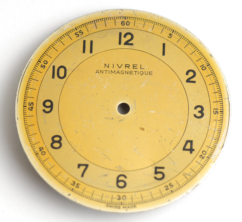 Antik NIVREL Zifferblatt. Vintage Nivrel dial. 30,5mm.