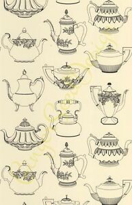 Image Is Loading 2 ROLLS Tea Pots Shabby Chic Vintage Kitchen