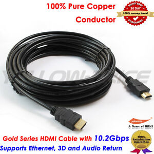 25FT-LONG-HDMI-Cable-v1-4-Super-High-Speed-Gold-F-X360-PS4-HDTV-Ethernet-Wire-3D