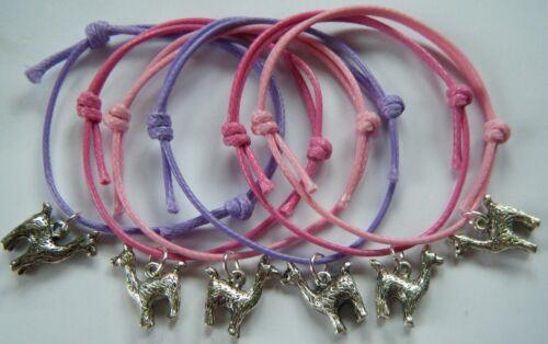 6 lama alpaga Bracelets Fête Sac Cadeau Remplissage cadeaux prix faveurs Hen Do